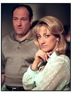 "James Gandolfini and Edie Falco from ""The Sopranos"""