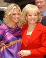 Elisabeth Hasselbeck and Barbara Walters