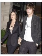 Demi Moore and Ashton Kutcher at the Stella McCartney Store Opening