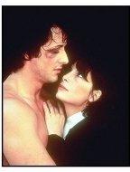 """Rocky"" movie still: Sylvester Stallone and Talia Shire"