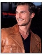 Matthew McConaughey at the Hope Floats premiere
