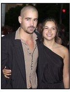 Colin Farrell and Amelia Warner at the American Outlaws premiere