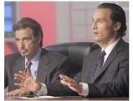 Two For The Money Movie Stills:  Al Pacino and Matthew McConaughey