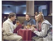 Steve Carell, Seth Rogen, Paul Rudd, and Romany Malco star in Universal Pictures' 'The 40-Year-Old Virgin'