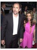 Nicolas Cage and Lisa Marie Presley at the Captain Corelli's Mandolin premiere