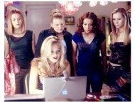 """Sleepover"" Movie Still:  Scout Taylor-Compton, Sara Paxton (seated), Kallie Flynn Childress, Alexa Vega, and Mika Boorem"