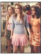 """Mean Girls"" Movie Still: Amanda Seyfried, Lindsay Lohan and Lacey Chabert"