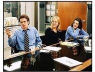 """""""Shattered Glass"""" Movie still: Hayden Christensen, Chloe Sevigny and Melanie Lynskey"""