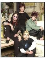 The Osbournes TV still: The Osbourne Family: Ozzy, Sharon, Kelly and Jack