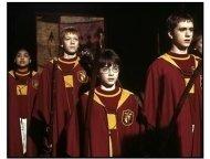 Harry Potter movie still: Daniel Radcliffe plays quidditch
