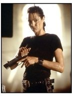 Tomb Raider movie still: Angelina Jolie