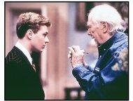 Gosford Park movie still: Ryan Phillippe and director Robert Altman on the set of Gosford Park