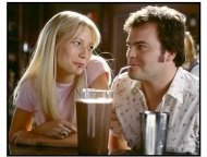 Shallow Hal movie still: Gwyneth Paltrow and Jack Black share a tender moment