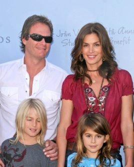 Rande Gerber and Cindy Crawford with their family