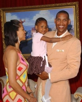 Reggie Miller and family