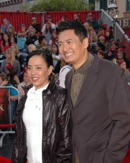 Chow Yun-Fat and wife Jasmine