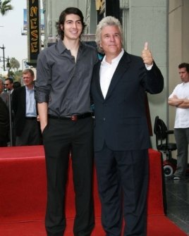 Brandon Routh and Jon Peters