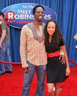 Harold Perrineau and daughter Aurora