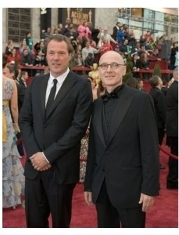 """Stars of Nominated Foreign Language Film, """"The Lives of Others,"""" Sebastian Koch and Ulrich M?he arrive at the 79th Annual Academy"""
