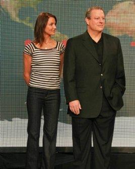 Cameron Diaz and Al Gore