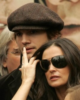 Ashton Kutcher and Demi Moore