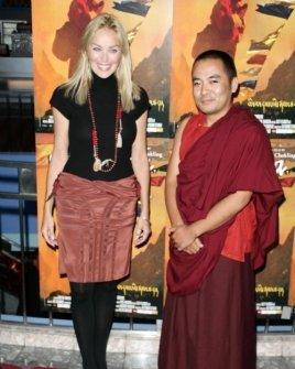 Sharon Stone and Neten Chokling