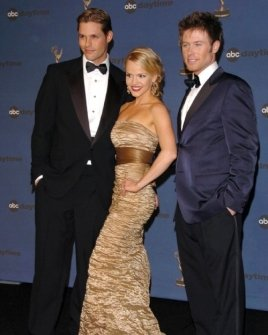 Justin Bruening with Alexa Havins and Jacob Young