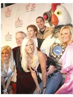 Robot Chicken DVD Launch Party:  Holly Madison, Hugh Hefner, Seth Green Kendra Wilkinson, Matthew Senreich, Robot Chicken and Bridget Marquardt