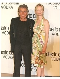 Roberto Cavalli and Anne Heche
