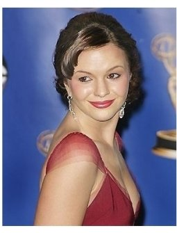 Amber Tamblyn backstage at the 2004 Emmy Awards