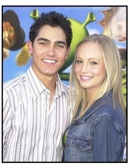 """Tyler Hoechlin and friend Candace at the """"Shrek 2"""" Premiere"""