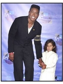 """Jermaine Jackson and son backstage at the ABC Television Network Special,  """"Motown 45"""""""