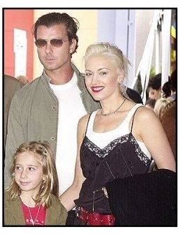 """Gavin Rossdale and Gwen Stefani and her niece Madelaine at """"Dr. Seuss' Cat in the Hat"""" premiere"""