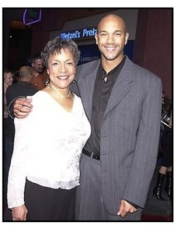 "Stephen Bishop and mom Leslie at ""The Rundown"" premiere"