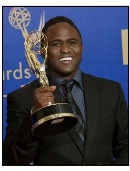 Wayne Brady on the backtage at the 2003 Emmy Awards