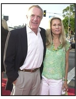 """James Caan and and date at the """"Open Range"""" premiere"""