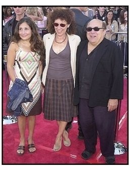 "Rhea Perlman, Danny De Vito and their daughter at the ""Terminator 3: Rise of the Machines"" premiere"