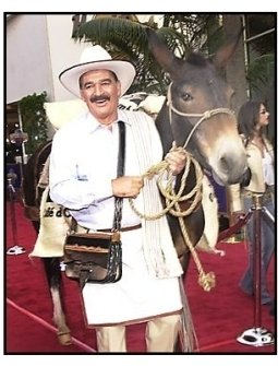"""Juan Valdez and donkey at the """"Bruce Almighty"""" premiere"""