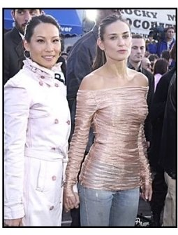 "Lucy Liu and Demi Moore at ""The Matrix Reloaded"" premiere"