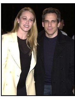 Ben Stiller and Christine Taylor at the Orange County premiere