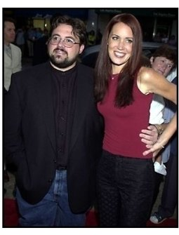 Kevin Smith with wife Jennifer at the Jay and Silent Bob Strike Back premiere