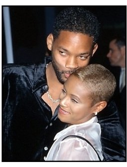 Will Smith kisses Jada Pinkett Smith