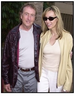 Eric Idle and wife at The Anniversary Party premiere