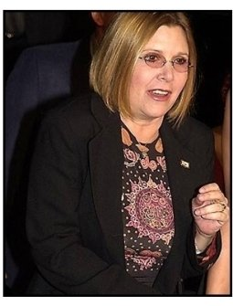 Carrie Fisher at the Heartbreakers premiere