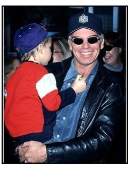 Billy Bob Thornton and son at the Rugrats in Paris premiere
