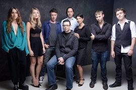 Beneath the Harvest Sky Cast, Gita Pullapilly and Aron Gaudet