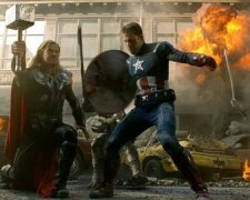 Avengers Cap and Thor Unite in Epic Slo-mo Battle
