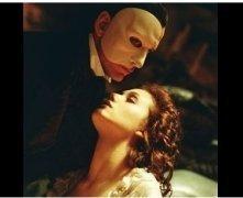"""The Phantom of the Opera"" Movie Still: Emmy Rossum and Gerard Butler"