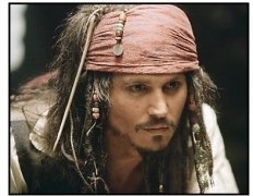 """Pirates of the Caribbean: :The Curse of the Black Pearl "" Movie Still: Johnny Depp"