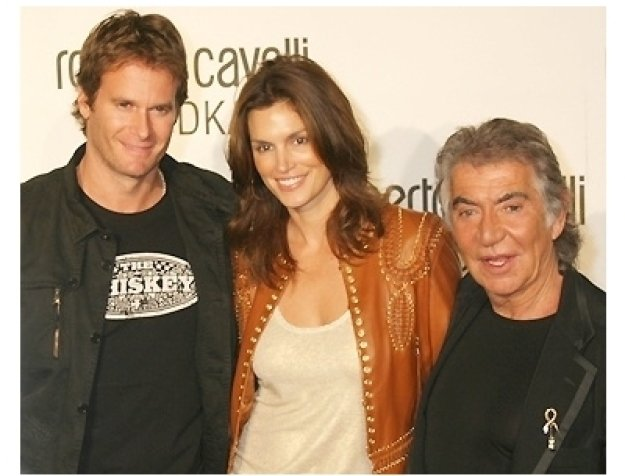 Rande Gerber, Cindy Crawford and Roberto Cavalli
